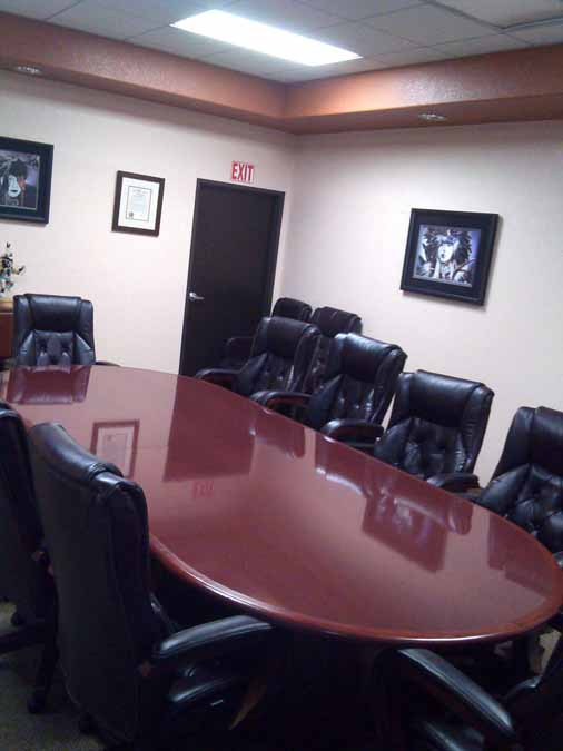 Racetrack Conference Table with Plush Boardroom Seating