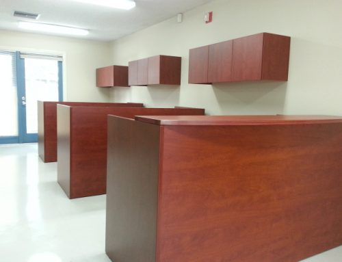 Reception Stations Create an Open Office Area